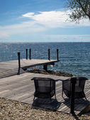 Romantic and private deck facing Thai gulf on the Samed island — Zdjęcie stockowe