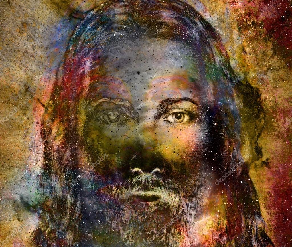 Abstract Painting Of Jesus Face