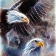 Two eagles on an abstract background — Stock Photo #65309107