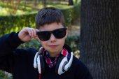 Trendy boy with glasses — Stock Photo