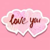 """The phrase """"Love you"""" — Stock Vector"""