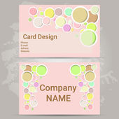 Pink card design — Stock Vector