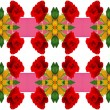 Seamless pattern with red roses and gold ribbons — Stock Photo #62178739