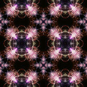 Abstract seamless pattern with pink fireworks — Fotografia Stock