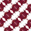 Seamless abstract pattern with stylized hearts — Stock Photo #62454225