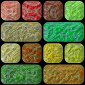 Abgerundete Rechtecke und Quadrate mit Marmor-Struktur — Stockfoto