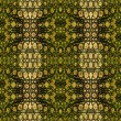Постер, плакат: Abstract seamless stylized snake pattern in natural colors