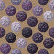 Постер, плакат: Background with grained violet and pink balls
