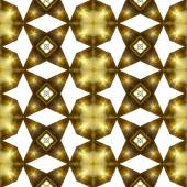 Abstract seamless pattern of gold stars and round plates — Stock Photo