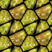 Seamless relief pattern of gold stones with crystals — Stock Photo