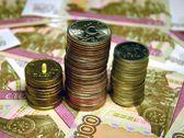 Russische rubel banknoten und münzen — Stockfoto