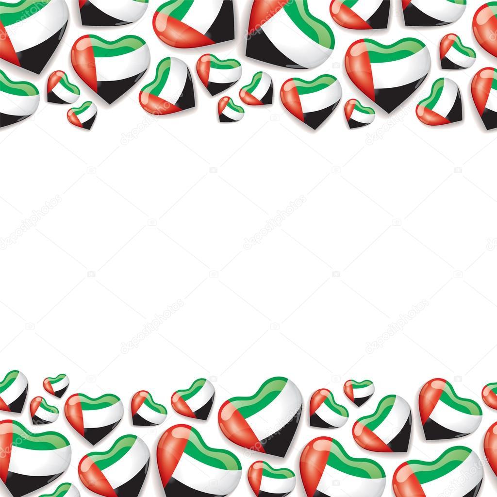 Eyeglasses Frame Uae : UAE Flag Background with hearts Shape Stock Photo ...