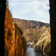 View to waterfalls of Monasterio de Piedra — Stockfoto #62967921