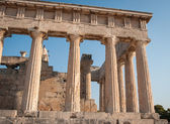Ruins of Afaia Temple — Stock Photo