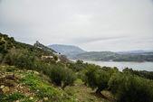 View of Zahara de la Sierra landscape — Foto Stock