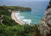 Picturesque view of ballota beach — Stock Photo