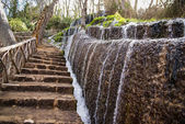 Waterfalls at Monasterio de Piedra — Stock Photo