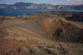 Volcanic island of Nea Kameni — Stok fotoğraf