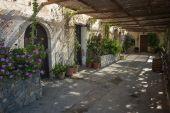 Preveli monastery in Crete — Stock Photo