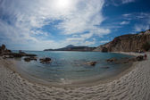 Picturesque firiplaka beach — Stockfoto