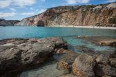 Picturesque firiplaka beach — Stock Photo
