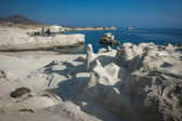 Beautiful moonscape beach Sarakiniko — Stock Photo