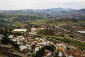 View of Zahara de la Sierra landscape — Stock Photo