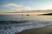 Beautiful seashore with yachts — Stock Photo