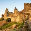View of old fortified Carcassonne town — Stock Photo #62986499