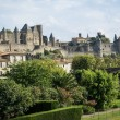 View of old fortified Carcassonne town — Stock Photo #62986685
