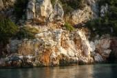 Rocky seashore on Brac island — Stock Photo