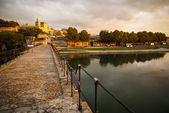 Avignon bij zonsondergang — Stockfoto