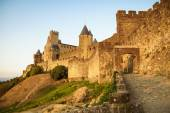 View of old fortified Carcassonne town — Stock Photo