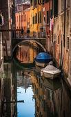 Channel and bridge in Venice — Stock Photo