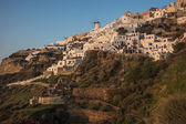White city on slope of hill — Stock Photo