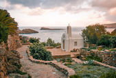 White church in Greece — Stock Photo