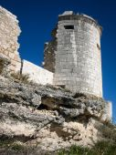 Ruins of a castle at Iscar — Stockfoto