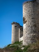 Ruins of a castle at Iscar — Stock Photo
