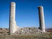 Ruins of a castle at Canillas de Escueva — Fotografia Stock