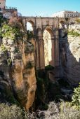 Ronda Stadt auf Klippen — Stockfoto