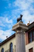 Old majestic church in Teruel — Stock Photo