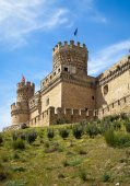 Old mansanares Castle on hill — Stock Photo