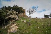 Ruins of a castle at Salvatiera de los Barros — Stok fotoğraf