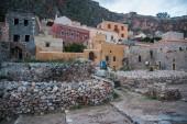 Cityscape at Monemvasia, Peloponnese, Greece — Stock fotografie