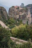 Monastery of Holy Trinity in Meteora — 图库照片