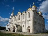 White stone church — Stock Photo