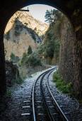 Cog Railwayin Vouraikos gorge — Stock Photo