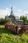Sergeevo, küçük ahşap kilise — Stok fotoğraf
