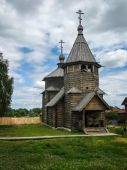 Wooden architecture in Suzdal — Stock Photo