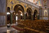 Interior of Cathedral in Patras — Stock Photo